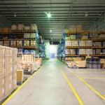 Warehouse with floor marking